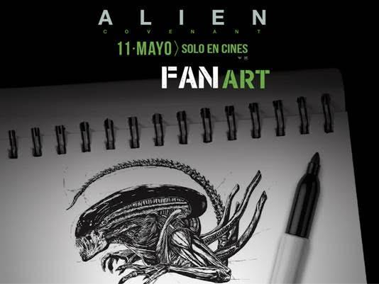 Alien: Covenant anuncia convocatoria a estudiantes de artesgráficas