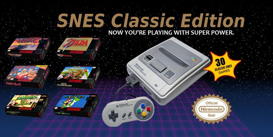 Nintendo SNES para pre-orden a finales delmes