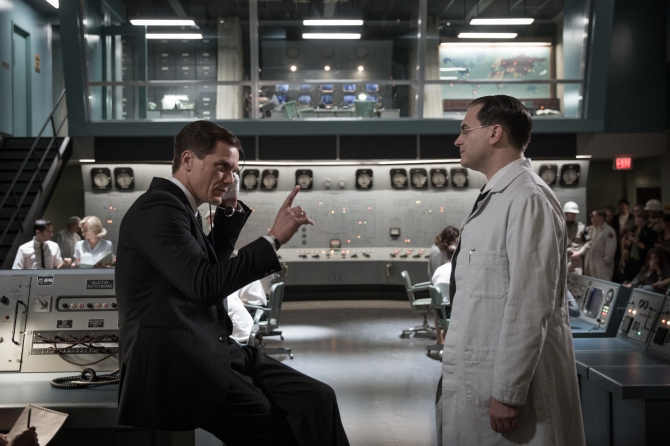 Michael Shannon and Michael Stuhlbarg in the film THE SHAPE OF WATER. Photo by Kerry Hayes. © 2017 Twentieth Century Fox Film Corporation All Rights Reserved