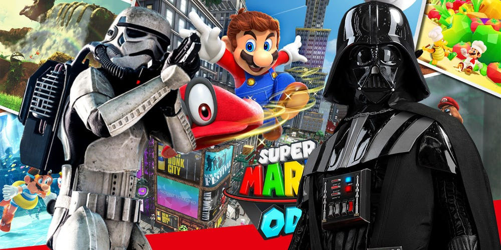 Super Mario Odyssey supera en ventas a Battlefront2